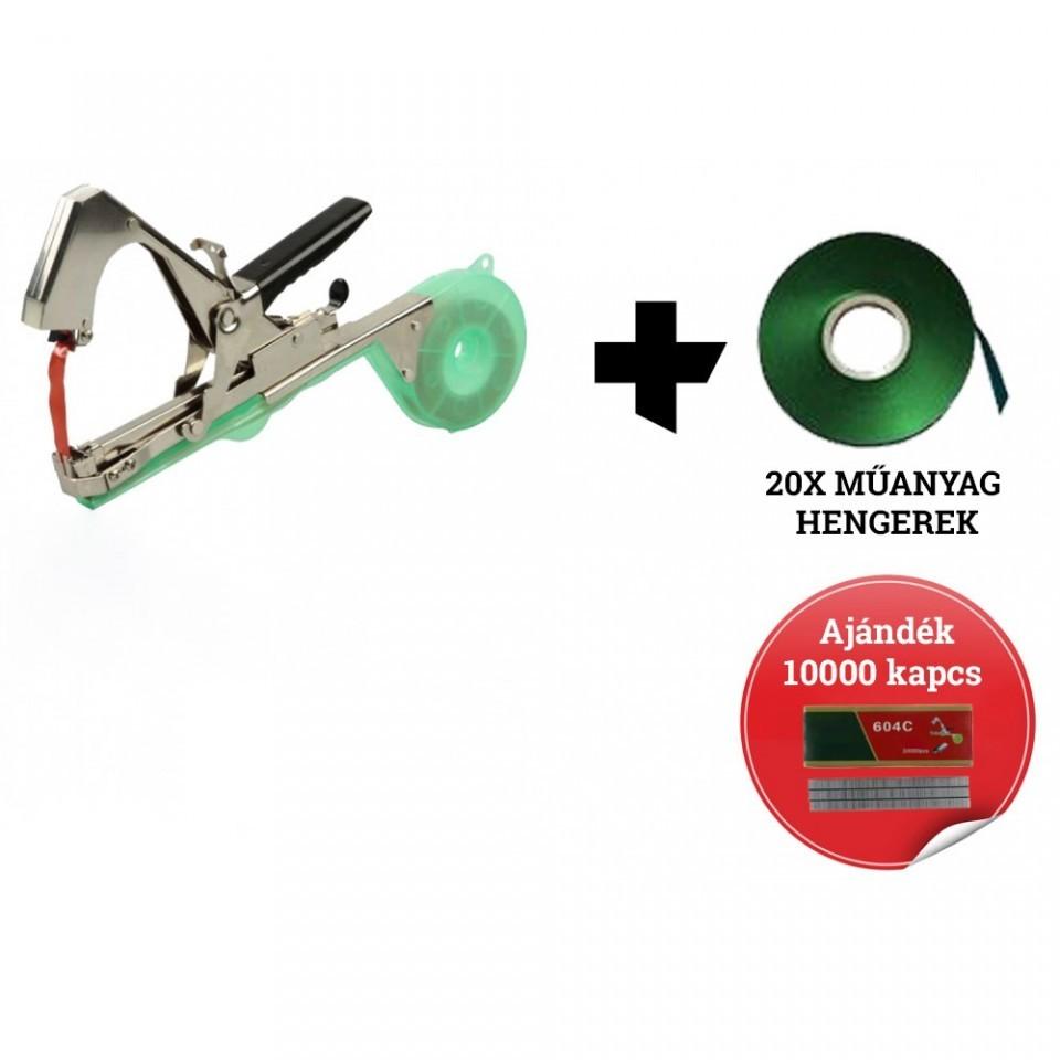 Különleges ajánlat Szőlő Kötöző + 20x műanyag hengerek +10000 x Kapocs