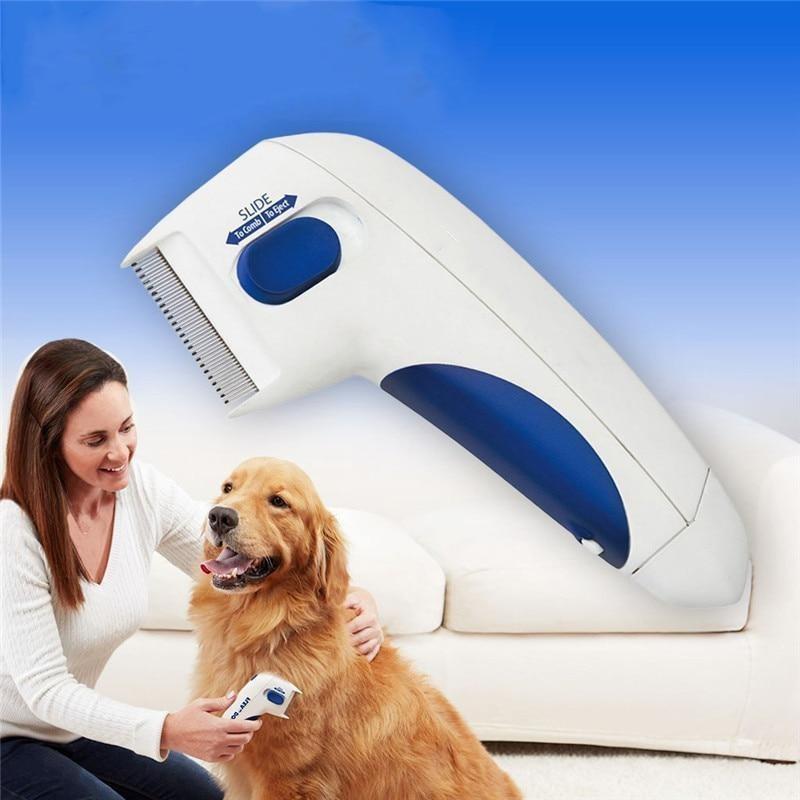 Elektromos bolhairtó fésű kutyáknak és macskáknak