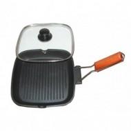 24 cm-es teflon grillező elmozdítható markolattal