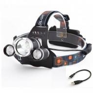 LED Fejlámpa 3 az 1-ben T6 50000W