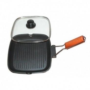 28 cm-es teflon grillező elmozdítható markolattal