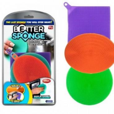 3db Beter Sponge-Többfunkciós Szilikon Kefe Konyhai Kellékek Szivacs Mosó Tisztító Eszköz