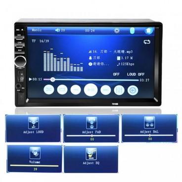 """7"""" Érintőképernyős 2 DIN Bluetooth Multimédiás Autórádió - Tolatókamera"""