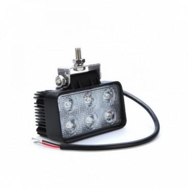 Autó 6 LED-es Fényszóró, LED munkalámpa 18 Watt