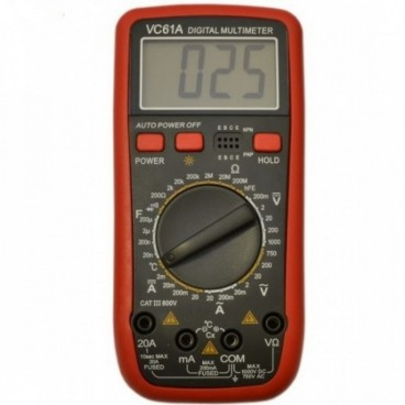 DIGITALIS MULTIMETER VC 61A