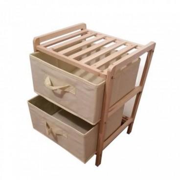 Fa szekrény 2 fiókkal