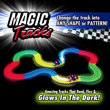 Mágikus Autópálya, LED-es Kisautóval-Crazy Car Toy Challenge Games