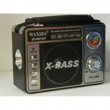 Waxiba XB-6061URT lámpával ellátott multifunkcionális rádió